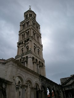 Neighborhood - the bell tower of the cathedral sv.Duje, patron saint of Split