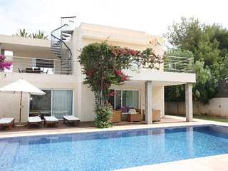 5 bedroom Villa in Cala Tarida, Balearic Islands, Spain : ref 5476573