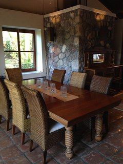 Large dining room for home cooked meals.
