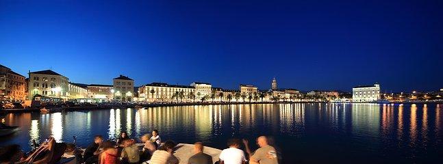 SPLIT-Split's Riva (waterfront) at night