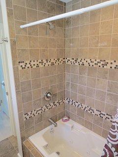 Doccia step-in in bagno padronale, livello principale.