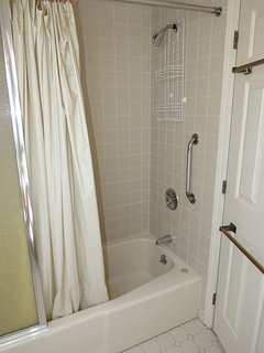 With a tub/shower combination