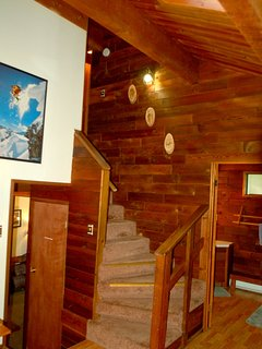 Stairwell off the kitchen area