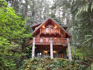 Snowline Cabin #47 - A rustic vacation home with modern charm!  Hot Tub! Wi-Fi!