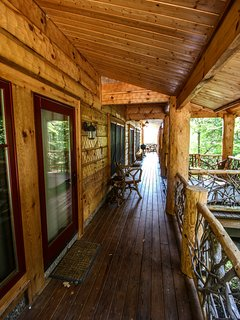View of the high deck at Red Stag Lodge.