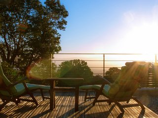 Terrace in the morning sun.Large enough to  or do yoga or just sit and welcome the sun