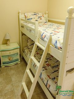 Ah! The Crew's Quarters Bunk Room is every kid's dream!  Decorated just for them!