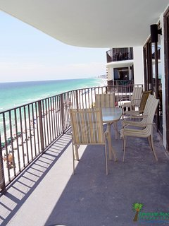 Your balcony is shady for most of the day, great for reading, watching the dolphins, rays and birds and the people, too!