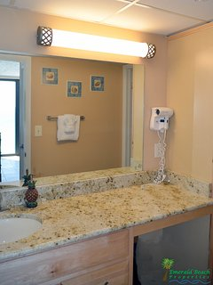 Beautiful separate vanity area with plenty of room for getting ready to go to the beach or out on the town!