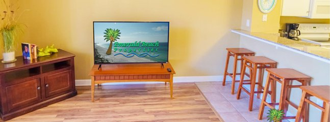 Large flat screen TV in the great room for watching your favorite shows and the Big Game, too! DirecTV throughout the...