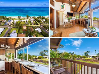 $236./NT Special! April 28th~ May 10th Ocean View Beach Cottage Steps from Beach, Waimanalo