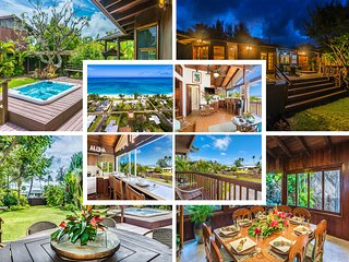 $616/NT Special May 1st~10th Ocean View Beach House & Cottage A/C Steps to Beach, Waimanalo