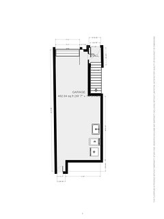 Floor plan for entry and garage