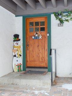 Unit front door