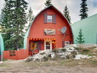 Nature's A'Lure a Newly Refurbished A Frame Cottage at Idabel Lake Resort.