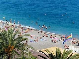 Nice SEASIDE Promenade des Anglais great airy flat