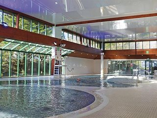 Heated indoor pool at Shorefield Country Park.