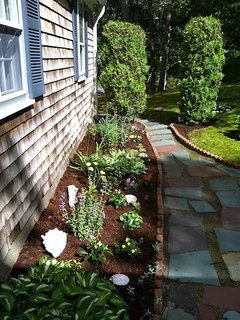 Patio- nice gardens - 11 Marshview Road Chatham Cape Cod New England Vacation Rentals