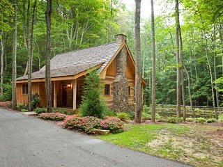 Magazine Featured Log Home Rental Cabin, Blue Ridge