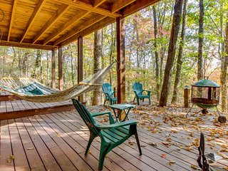 Lovely cabin w/screened-in porch, swing, hammock & hot tub, Ellijay