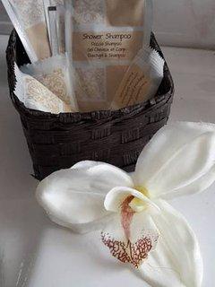 sapone e bagno doccia in omaggio