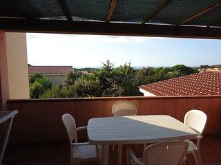 Trilocale 7 posti Spazioso con terrazza attrezzata, Rena Majore
