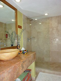 Nice bathroom with large shower!