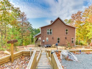 Mountain home w/ sweeping views, game room, & resort amenities w/ shared pool