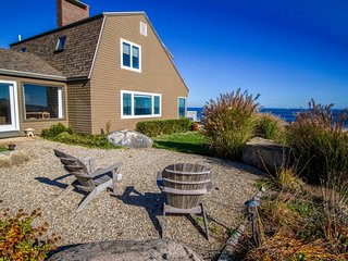 Oceanfront Cape Ann retreat w/ stunning  views, fireplace, deck, & gas grill!