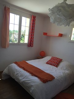 chambre orange 2 pers avec climatisation