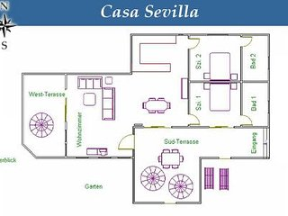 Casa Sevilla Finca SanJuan (Batista)  with common heated pool