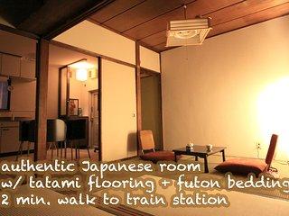 Authentic Japanese Ryokan like room w/ tatami, futon and tokonoma alcove, Adachi