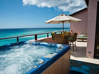 Elegant Barbados Rooftop Penthouse Overlooks Caribbean Sea, St. Lawrence Gap