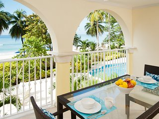 Posh Oceanfront Barbados Two-Level Condo Apt on Gorgeous Dover Beach