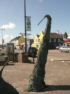 Copper Anchor Sculpture in Dingle town 1km