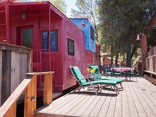 Luxury Train Caboose with a view near Malibu