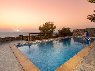 Sea Views at Villa Lefkothea with Private Pool for Families + Children Area!