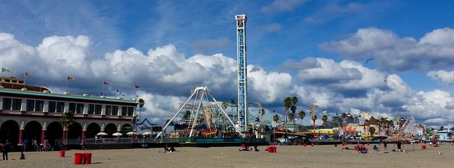 Voted the best seaside amusement park, The Santa Cruz Beach Boardwalk is just 30 minutes away.