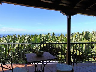 Casa García, íntima entre plataneras, soleada con vistas al mar, Tijarafe