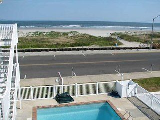 Ocean Front Condo with Pool, North Wildwood