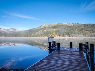 Stunning, dog-friendly lakefront home with a dock - mountain & lake views!