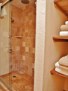 Large Shower with Waterfall feature