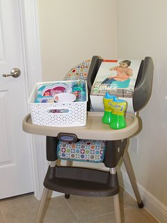 Baby equipment includes, dishes, booster seat, high chair, stroller, pack & play