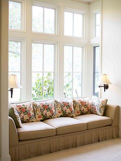 Window seat in the master bedroom for days spent curled up with a good book
