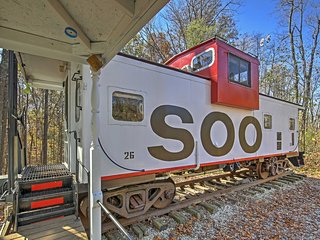 'Legacy Station Caboose' is a converted railcar located in Springville.