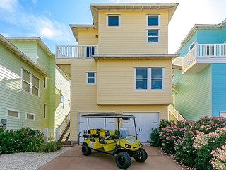 Mac and Jacs: FREE 6 Passenger Golf Cart, VIEWS, Pool, Pets, Port Aransas