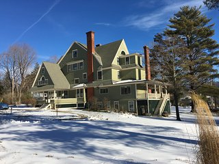 Taconic Mansion in Winter - great for skiing at Bromley and Stratton