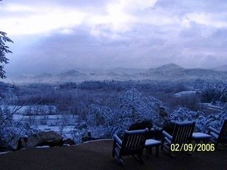Lodge Snow view