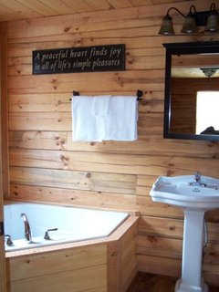 Cozy Cove Bathroom with Whirlpool bath and shower