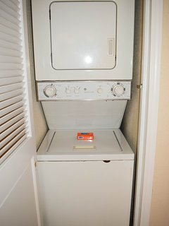 Ensuite washer and dryer for your convenience